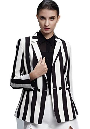 Buy Beetlejuice Costume Black and White Striped Leisure Blazers Jacket  Suit(M) at Amazon.in