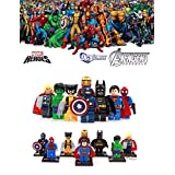 ABG toys 8 Minifigures MARVEL DC Comics Avengers X-Men Super Heroes Minifigure Series Building Blocks Sets Toys