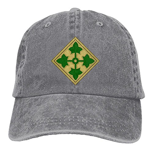 BETARIAN Army 4th Infantry Division Embroidered Low Profile Plain Baseball Hat Dad Sports Caps