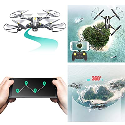 fercisi Long Time Standby Mini Foldable RC Quadcopter Mini Drone Helicopters: Garden & Outdoor