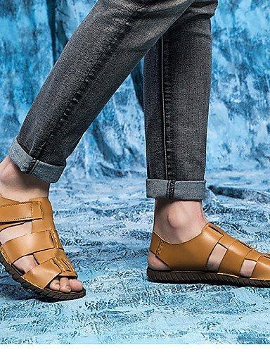 ShangYi Herren Sandaletten Herrenschuhe-Outddor / Büro / Kleid / Lässig / Sportlich-Sandalen-Nappa Leather-Braun Brown