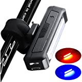 instaFACTOR Rear Bike Light usb Rechargeable Back Bicycle Lights Red Blue Blinking safety tail light Bright bike lighting led Flashing Cycling Taillight 5 Models Fits Road Bike, Helmet,Backpack