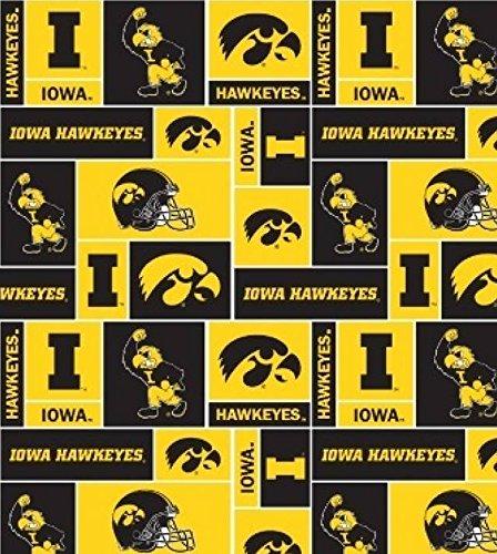 University of Iowa Hawkeyes Fleece Fabric - 60