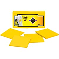Post-it Super Sticky Full Adhesive Notes Electric Yellow 76x76mm F330-12SSY (Pack of 12)