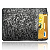 AIKELIDA Slim Wallet Money Clip RFID Front Pocket Wallet Secure Thin Credit Card Holder