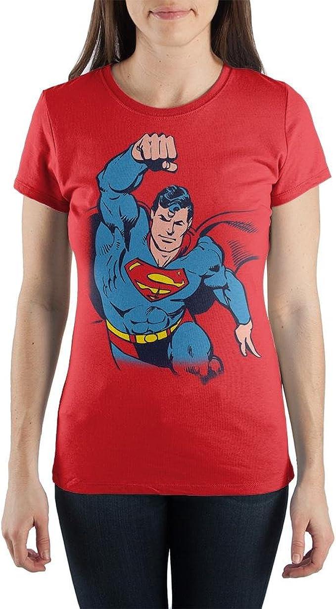 Superman En las señoras de Vuelo Camiseta Rojo Mediano: Amazon.es: Ropa y accesorios