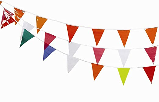 Red//White 03-401-60 CORTINA Pennants,Vinyl,Red//White,60 ft.