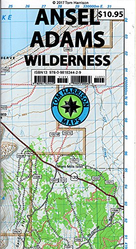 Ansel Adams Wilderness Trail Map (Tom Harrison (Ansel Adams Guide)