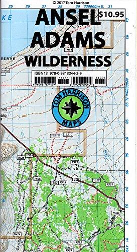 Ansel Adams Wilderness Trail Map (Tom Harrison (Ansel Adams Guide)