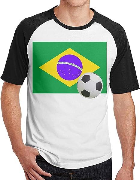 Vanesa Joyce Bandera de Brasil con balón de fútbol Cafe Hombres ...