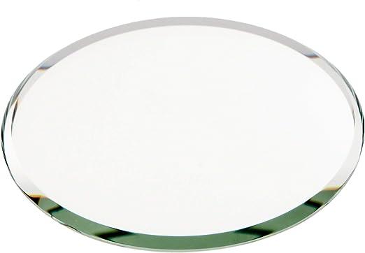 Amazon Com Plymor Round 3mm Beveled Glass Mirror 3 Inch X 3 Inch Home Kitchen