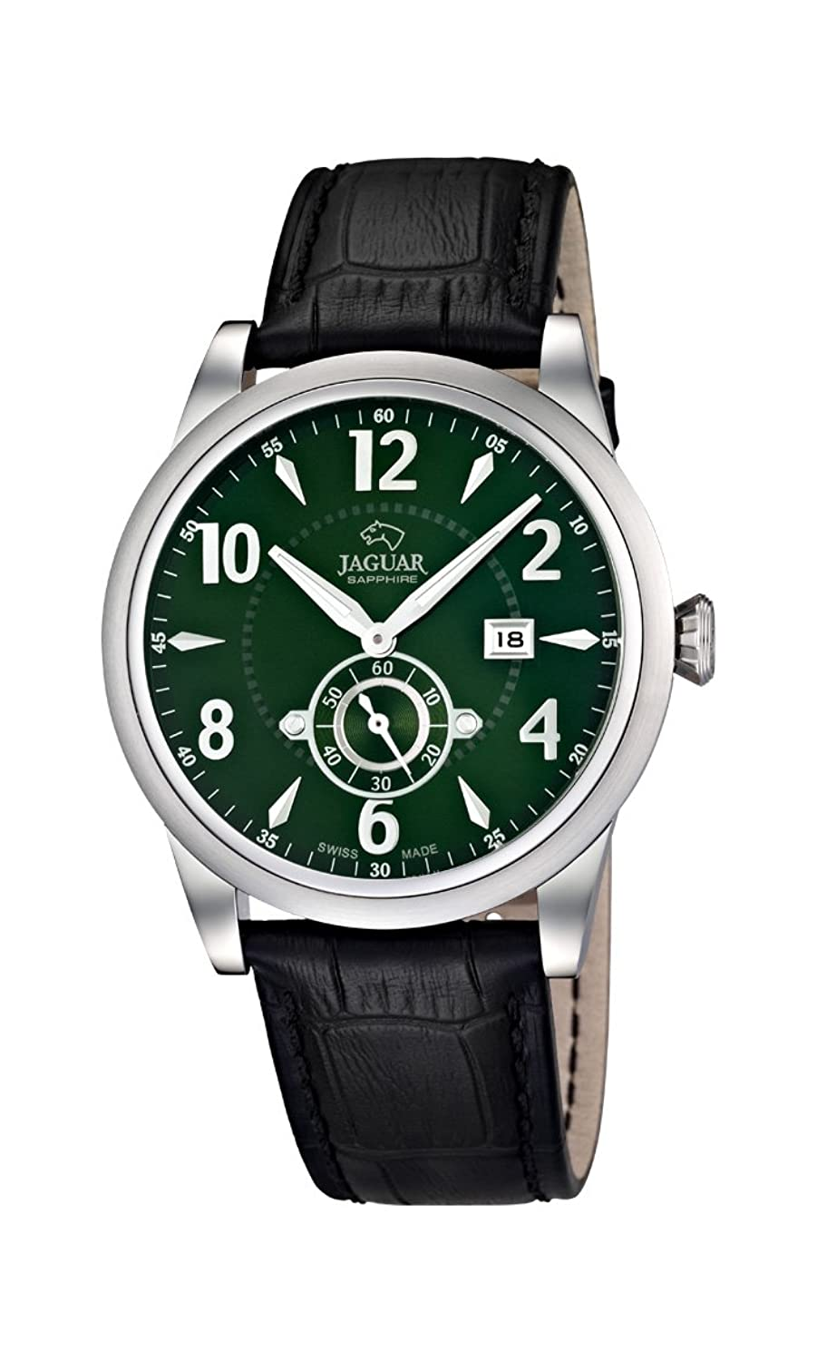 Jaguar Watches Herren-Armbanduhr XL Analog Quarz Leder J662-3