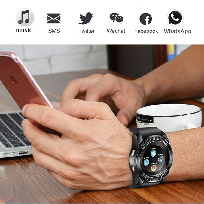 Men Women Smart Watch Wristwatch Support with Camera ...