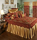 Colcha de Austin Classics Colcha de Montecito Royale, California King, Red / Gold