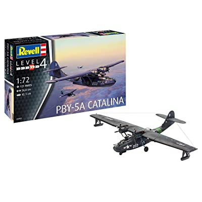 Revell GmbH 03902 PBY-5a Catalina Plastic Model Kit, Grey, 1:72: Toys & Games