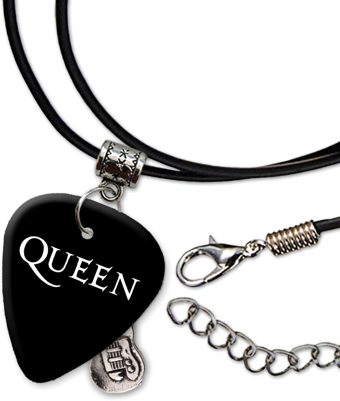 Queen Band Logo Collar de cordón de púa de guitarra (H): Amazon.es ...