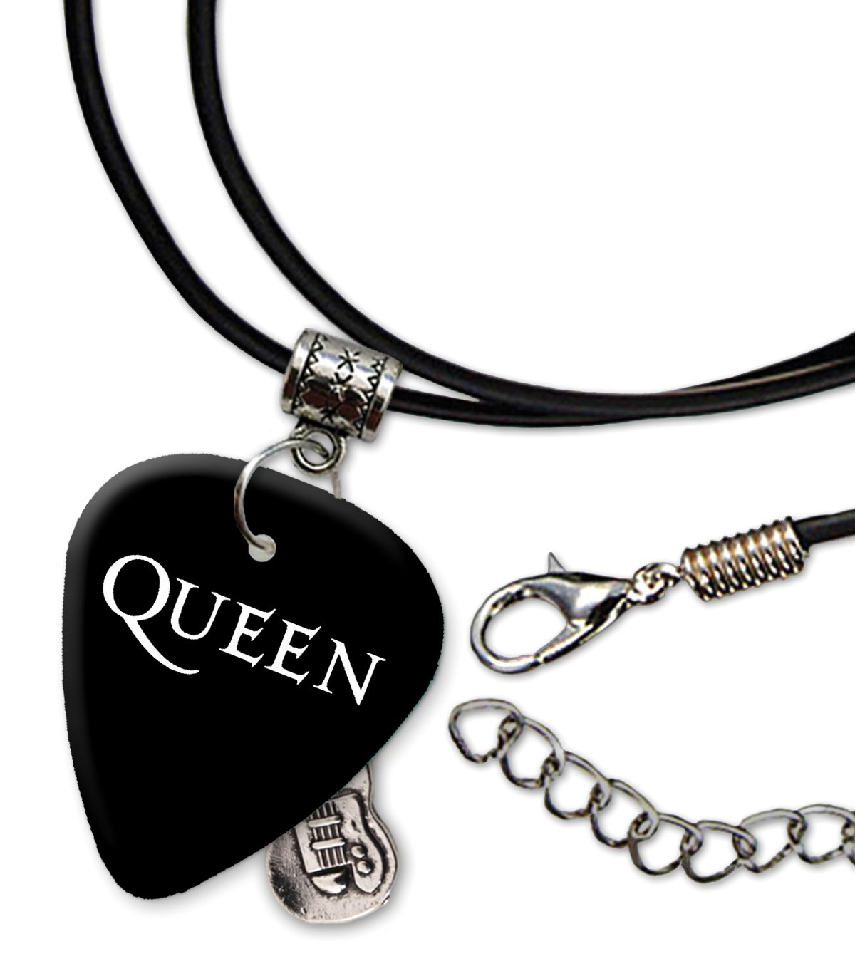 Queen Band Logo Collana di corda di chitarra plettro (H) We Love Guitars