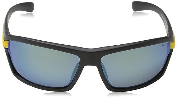 Fila Herren Sonnenbrille SF8976, Mehrfarbig (SEMI MATT Black