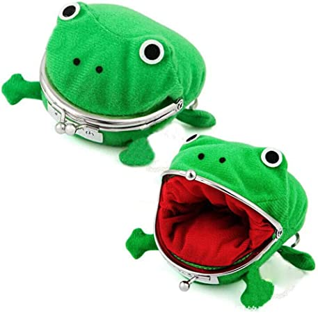 2pcs Soft Frog Money Box Animal Purses Cartoon Small Coin Wallet Cosplay Coin Holder for Teens Funny 3225