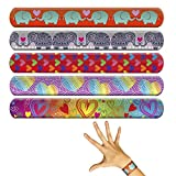Kids Slap Bracelets Party Favors - Love & Hearts Theme (Pack of 60)