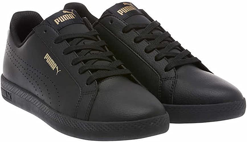 Get the Deal: PUMA Women's Smash Sneaker, Black White Silver