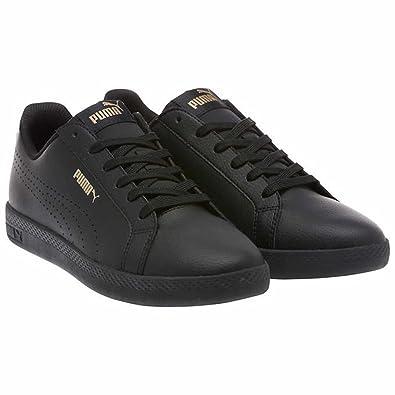 e22704af998e PUMA Women s Smash WNS Perf Metallic Sneaker Black Gold