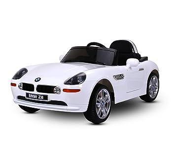 LT 860 Coche eléctrico para niños BMW Z8 monoplaza 12V con control remoto (Blanco)