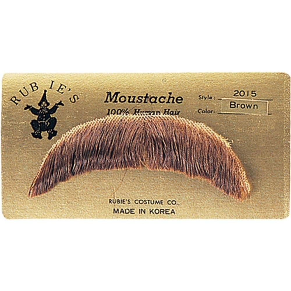 Rubies Medium Brown Moustache Made With Real Human Hair