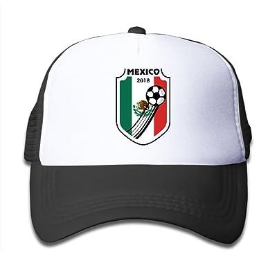 bd8afbde971 2018 Football Mexico Boy Girl Adjustable Trucker Visor Caps Mesh Baseball  Hats