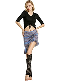 f4083720ac Zengbang Women's Belly Dance Costume Camisole Bandage Indian Performance  Skirt Costume Set Festival Wear