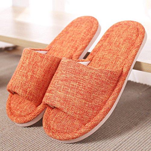 De De Des Maison Et De Pantoufles Orange De Pantoufles DarkRed Traînée Des Des Coton De Pour Plancher Traînent Couple De Femmes D'intérieur Tapis Les De Coton Ressort Les Hommes ABvww