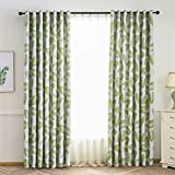 Floral Print Fashion Design Curtains, Thermal Insulated Blackout Grommet Top Curtain Drapes