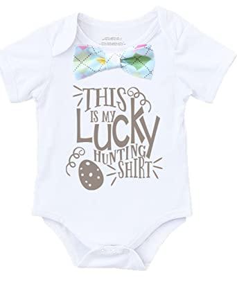 f6f1c137af6a Noah's Boytique Baby Boy Easter Outfit Shirt with Pastel Argyle Bow Tie  with Saying My Egg