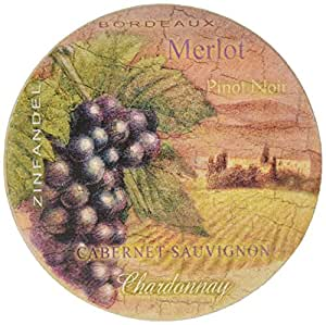 Thirstystone Stoneware Wine Country Coaster, Multicolor