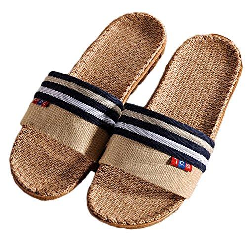 Sandales Été Chaussures Chaussons Respirant Pantoufles Lin Homme ZongsenC Plage Navy De Femme en 6xUppH