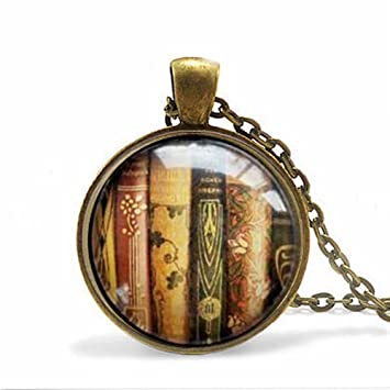 3bc61ce219b Book Necklace - Book Jewelry - Librarian Pendant - Gift For Writer -  Bibliophile - Book