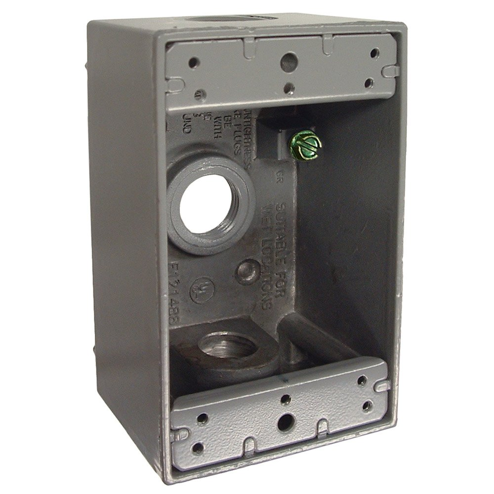 Hubbell Bell 5320 0 Single Gang 3 1 2 Inch Outlets Weatherproof Box