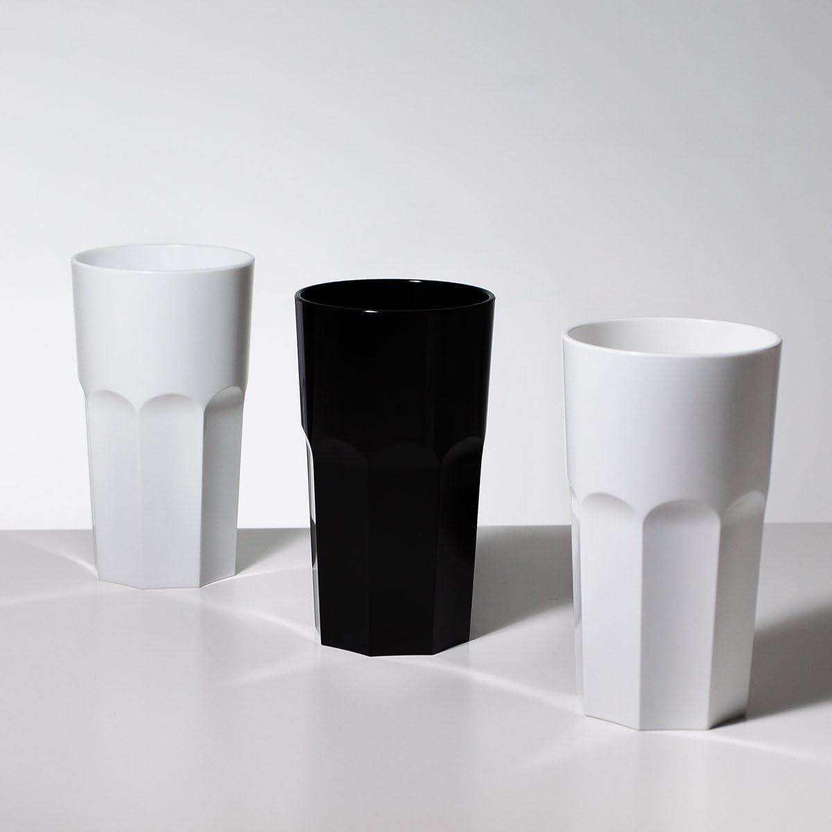 RB Vasos de Whisky Pl/ástico Premium Irrompible Reutilizable 35cl Set de 6