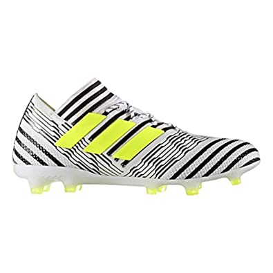 70ec5d95b adidas Nemeziz 17.1 FG Cleat - Men s Soccer 7 White Solar Yellow Core Black