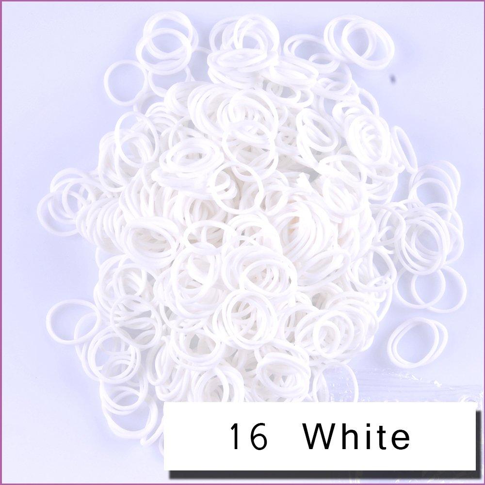 Kirinstores (TM) 6000 PCS 240 Clips Bands Refills for Loom Rainbow Bracelet Dress Making - White