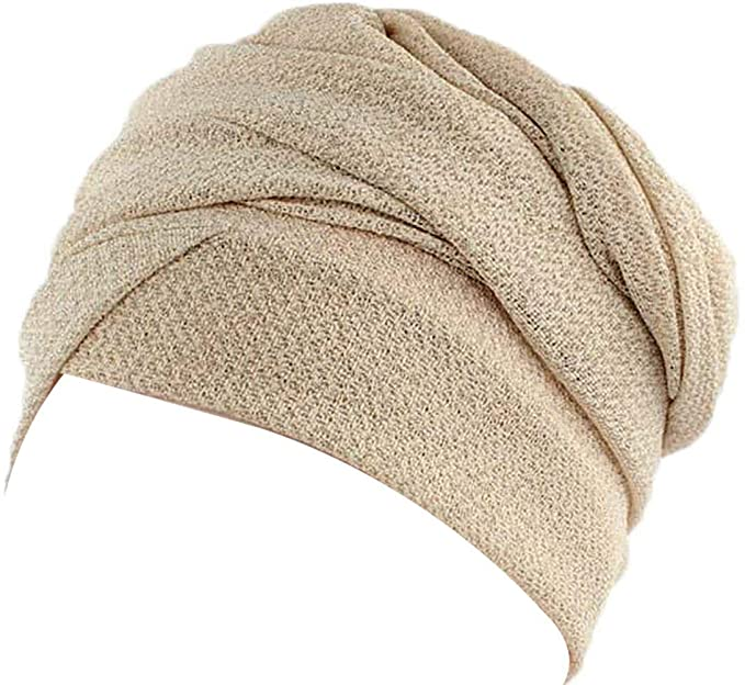 Elodiey Turban Suave Mujer Long Sparkle Para Long India Años 20 Turban Bone Bonete Turbante (