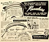1950 Ad Russelure Casting Trolling Spinning Flyrod Fishing Bait Tackle Sportsman - Original Print Ad