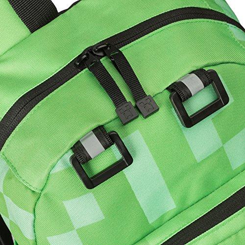 "12/"" JINX Minecraft Creeper Kids Mini Backpack Green"