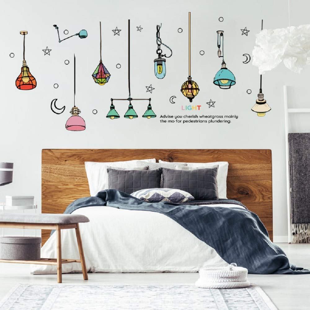 Amaonm Removable Kids Room Wall Decoration Art Decal Decor 3D Hanging Moon and Star Cat DIY Nursery Peel and Stick Decor Wall Sticker for Living Room Bathroom Playroom Girls Bbays Bedroom Walls Rooms