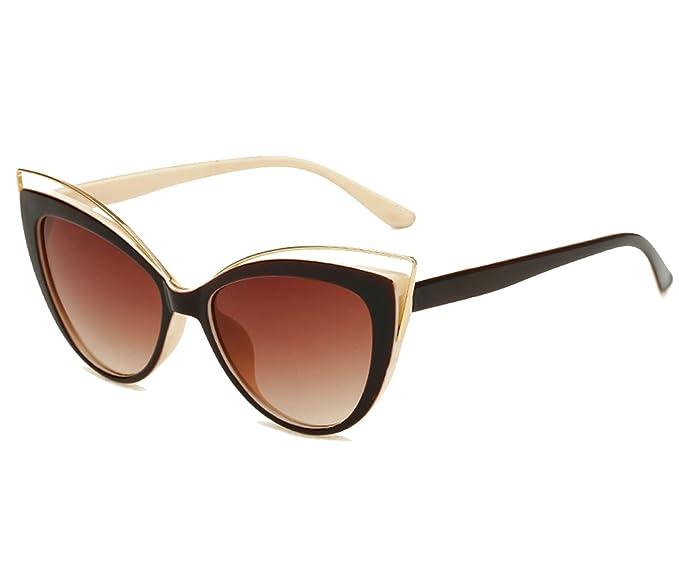 Amazon.com: KELUOZE - Gafas de sol para mujer, protección UV ...