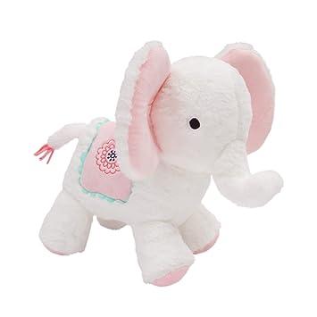 Amazon.com: Lambs & Ivy Boho Elefante blanco / rosa peluche ...