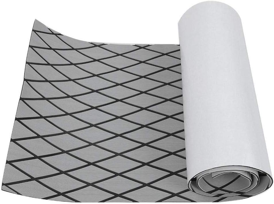 Decking Sheet Brown EVA Imitation Teak Decking Sheet Floor Mat Carpet Anti-Slip and Self-Adhesive Sea Deck Marine Yacht for Boat Yacht Pad Grip Mat Decoration