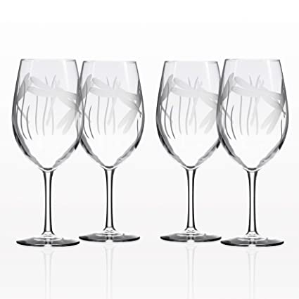 f447472cfaf Rolf Glass Wine Glasses All Purpose Dragonfly 18 ounces Set of 4
