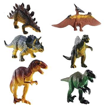 FOGAWA 6 Set Dinosaurios Juguetes Plástico Figura Dinosaurio Juguete Jurassic World para Niños Regalo de Cumpleaños Edad 3 hasta