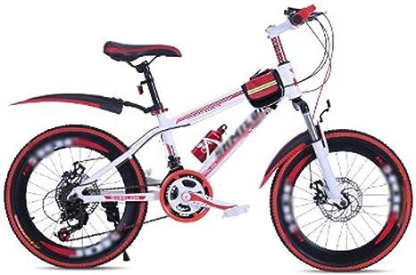 Paseo Bicicleta De Montaña para Niños Vagón De Primavera Y Verano Carrera De Velocidad De Freno De Disco para Adultos De 20 Pulgadas (Color : Red+White, Size : 7 Speed): Amazon.es: Hogar